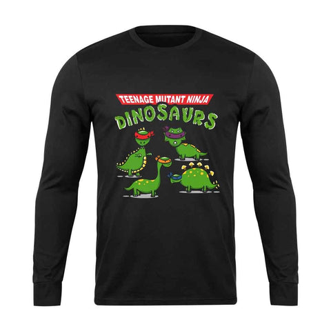 Tmnd Teenage Mutant Ninja Dinosaurs Long Sleeve T-Shirt