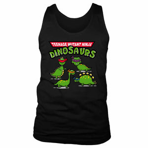 Tmnd Teenage Mutant Ninja Dinosaurs Men's Tank Top
