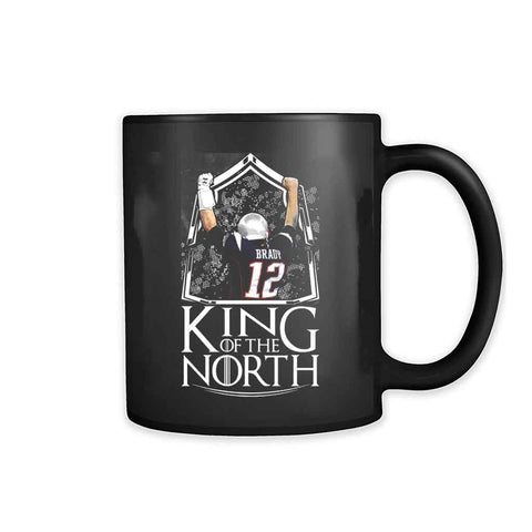 Tom Brady King Of The North New England Patriots Football 11oz Mug