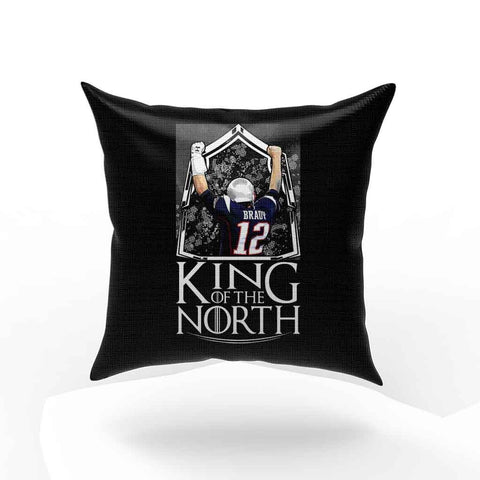 Tom Brady King Of The North New England Patriots Football Pillow Case Cover