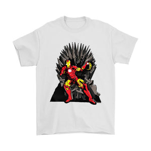 Tony Stark On The Iron Throne Game Of Thrones X Avengers Combo Men's T-Shirt