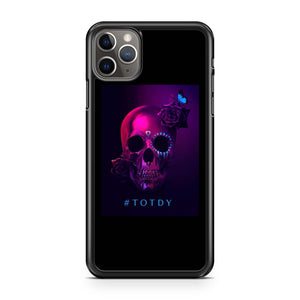 Too Old To Die Young Skull Flower iPhone 11 Pro Max Case