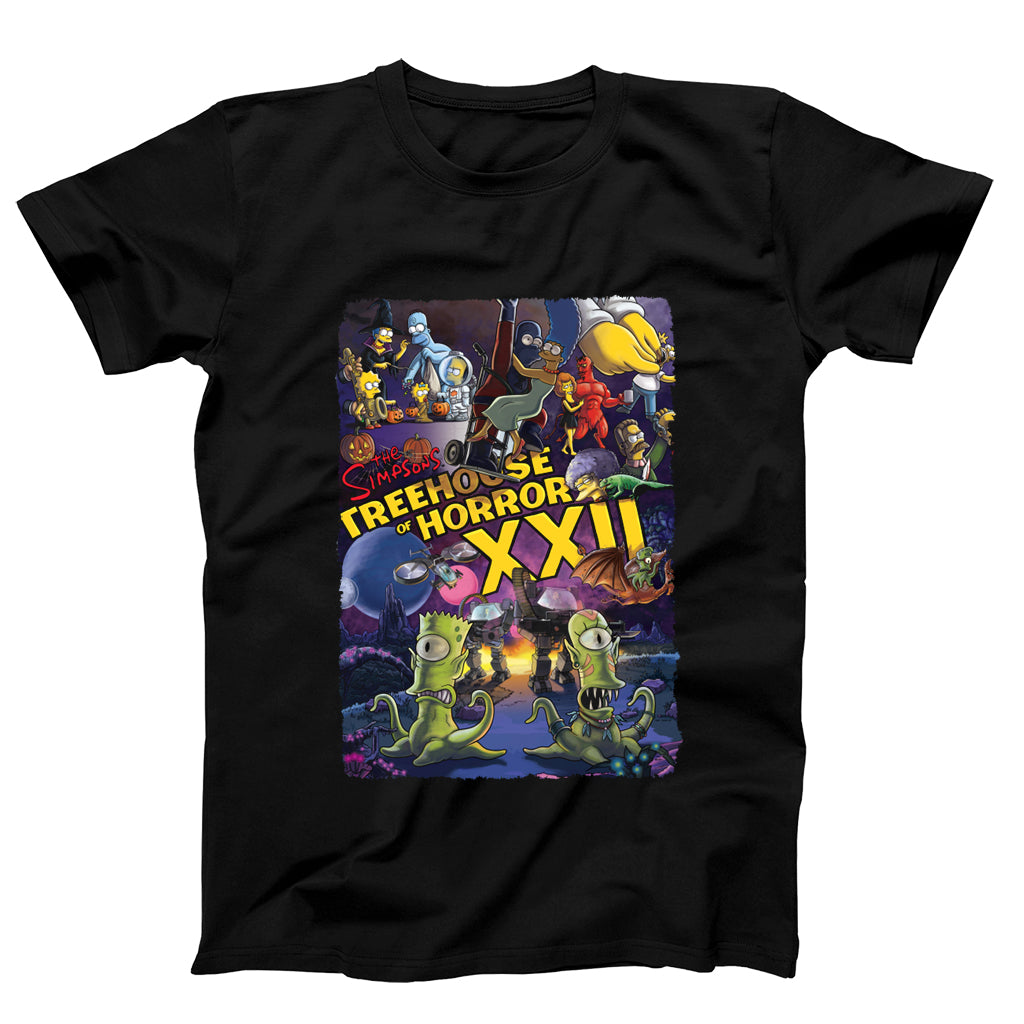 Treehouse Of Horror Xxii The Simpsons Poster Men's T-Shirt