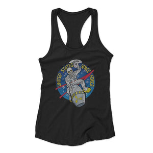 United States Space Force Astronaut Skull Woman's Racerback Tank Top