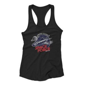 United States Space Force Pew Pew Woman's Racerback Tank Top