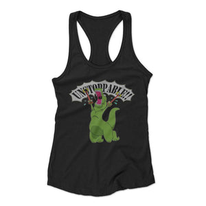 Unstoppable Dinosaur Woman's Racerback Tank Top