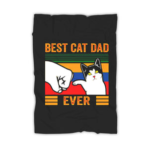 Vintage Best Cat Dad Ever Bump Blanket