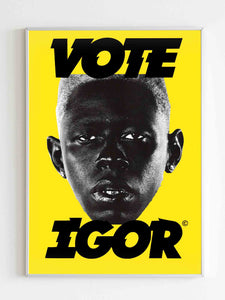 Vote Igor Yellow Poster