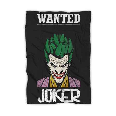 Wanted Joker Blanket