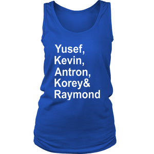 When They See Us Yusef Kevin Antron Korey And Raymond Women's Tank Top