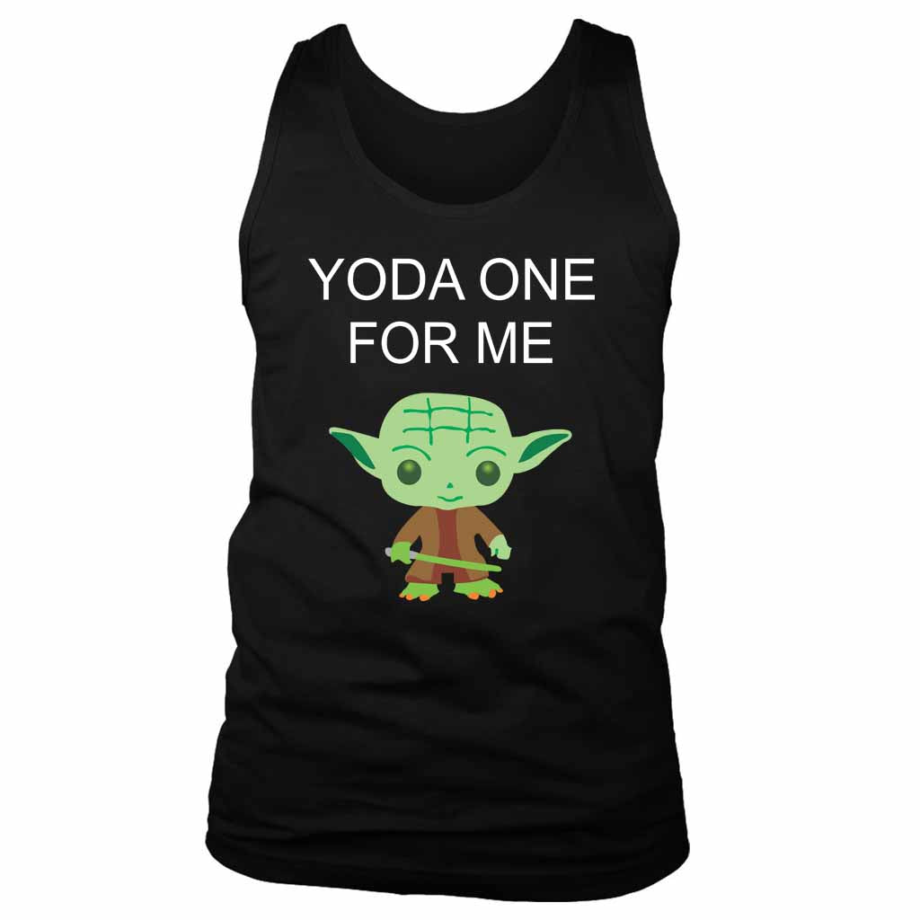 Yoda One For Me Yoda Star Wars Funny Men's Tank Top