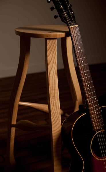 Guitarist's Stool - Figured Walnut and Blistered Maple