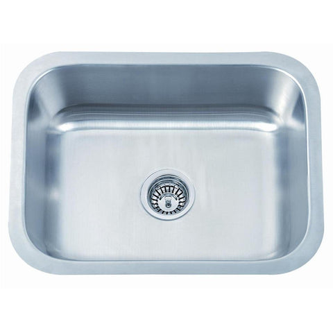 560 x 460mm Brushed Undermount Stainless Steel Large Bowl Kitchen Sink (A28A bs)