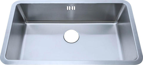 793 x 461mm Undermount Brushed Stainless Steel Large Single Bowl Kitchen Sink (A04 bs)