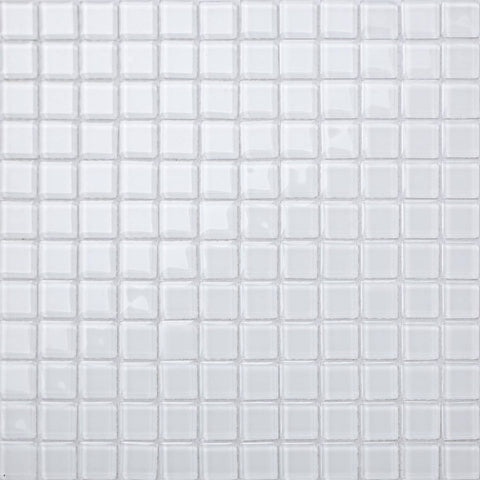 Superwhite Glass Mosaic Tiles Sheet (MT0079)