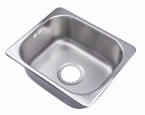 420 x 363mm Brushed Stainless Steel Inset Kitchen Sink (A11 BS)