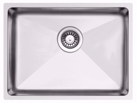 785 x 440mm Rectangle Undermount/Inset Deep Wide Single Bowl Stainless Steel Kitchen Sink (LA019)