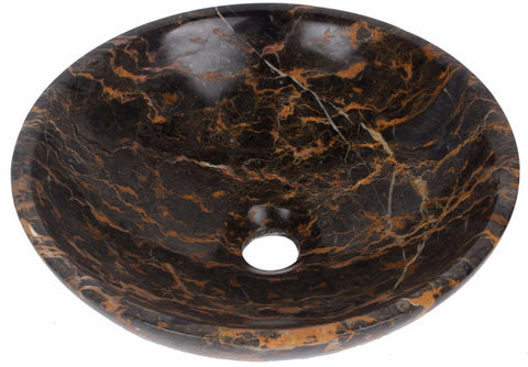 Round Portoro Stone Counter Top Basin in 3 Sizes (B0060, B0061, B0062)