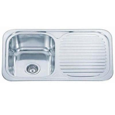 765 x 480mm Polished Inset Reversible Stainless Steel Sink (B04 mr)