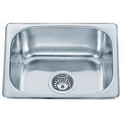 475 x 420mm Polished Inset Stainless Steel Kitchen Sink (A18)
