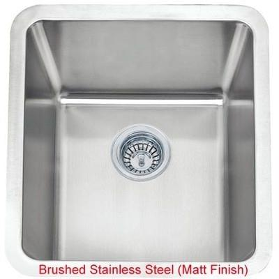 461 x 411mm Brushed Undermount Stainless Steel Single Bowl Kitchen Sink (A01 bs)