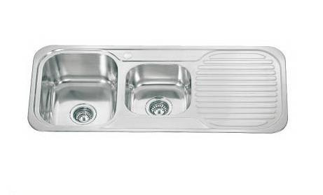1080 x 480mm Polished Reversible 1.75 Bowl Stainless Steel (E09)