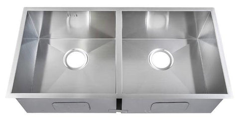 800 x 461mm Inset 2 Bowl Handmade Stainless Steel Kitchen Sink (DS030)