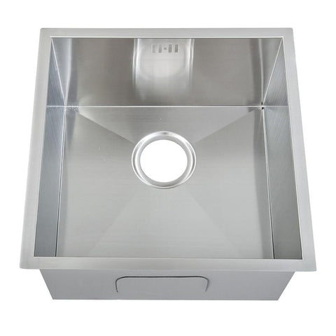 440 x 440mm Undermount Deep Single Bowl Handmade Stainless Steel Sink (DS006)