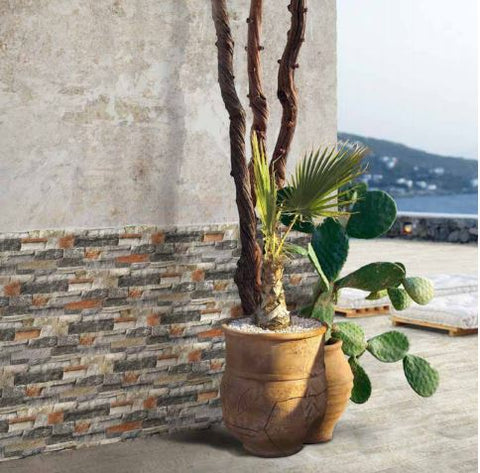 Kerastone Brenta Split Face Interlocking Porcelain Wall Tile