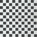 Black And Silver Reflector Mix Glass Mosaic Tiles Sheet (MT0007)