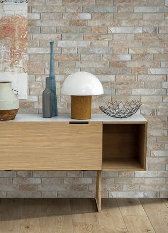Slate Crema Slip Brick Interlocking Porcelain Wall Tile