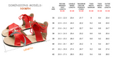 Size Chart for Nymph Sandals from ZeaZoo in the US