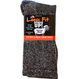 Extra Wide Sock Co Loose Fit Stays Up! Merino Socks Marled Black