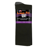 Extra Wide Sock Co Loose Fit Stays Up! Crew Socks Black