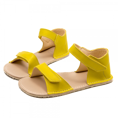 ZeaZoo Yellow minimalist vibram sole sandals for girls