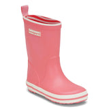 Photo of Bundgaard Boots in Coral Pink. Healthy minimalist rain boots for girls