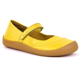 Photo of Froddo yellow mary jane minimalist shoes. New barefoot shoes for kids