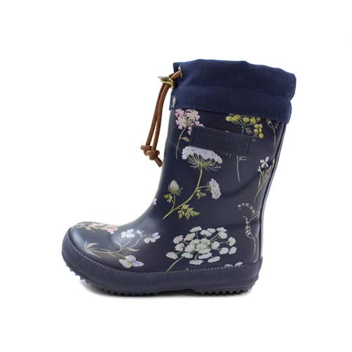 Bisgaard Thermo Rubber Boot Blue Flowers