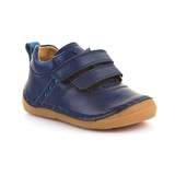 A top view of Froddo children's minimalist shoe healthy kid shoes in blue