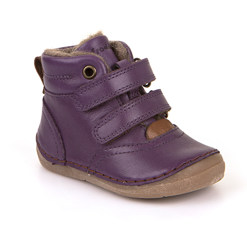 A top view of Froddo children's minimalist boot with wool kids barefoot boot