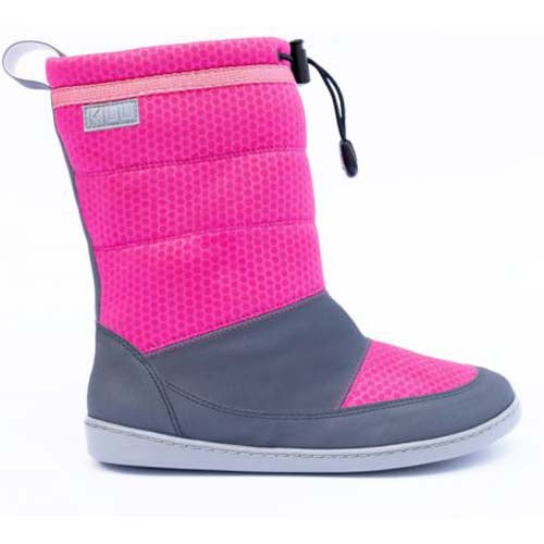 Side Photo of KIUU Pink Calisto Waterproof winter boot minimalist healthy boot for kids