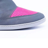 Photo of the toe box of Calisto waterproof pink boots by KIUU German barefoot shoes for girls