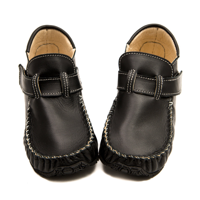 Black Leo Minimalist Shoes for kids special occasion toddler and kid shoes