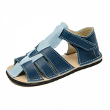 Dark blue and light blue Marlin Sandals from ZeaZoo Barefoot Sandals for kids