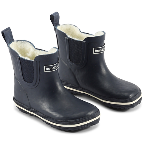 Classic Short Warm Navy Rubber Boots