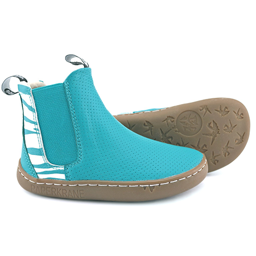 PaperKrane Zeal Chelesa Boots in Teal Color picture of sole