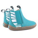 PaperKrane Barefoot Boots for kids and adults in teal