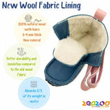 Image of new wool fabric lining inside of zeazoo yeti boots