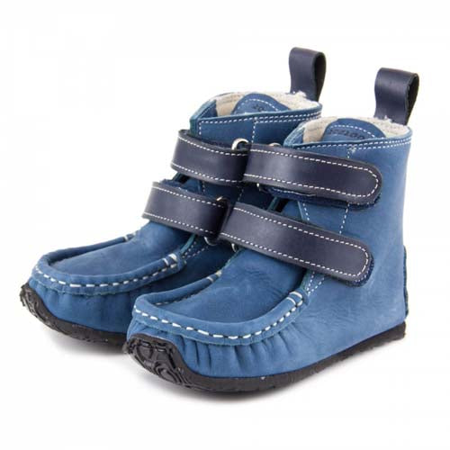 Picture of ZeaZoo Blue Yeti Boots Wool Fabric lined barefoot boots for kids