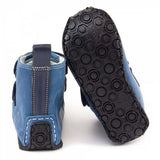 Photo of Zeazoo yeti boots in blue minimalist boots for kids with flexible vibram sole